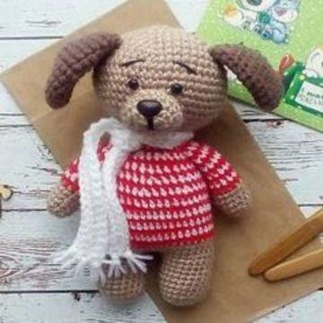 perros tejidos a crochet para regalar en navidad