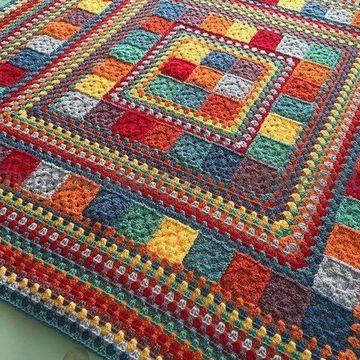 tapetes de crochet cuadrados bonitos