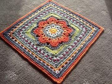 tapetes de crochet cuadrados de mandala