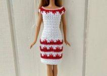 Preciosos vestidos a crochet para muñecas y cómo combinarlos
