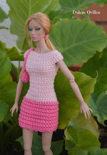 vestidos de barbie tejidos casuales