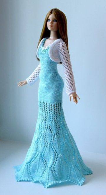 vestidos de barbie tejidos elegantes