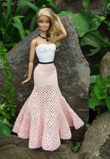 vestidos de barbie tejidos en tonos pastel