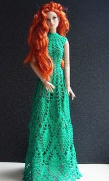 vestidos de barbie tejidos largos