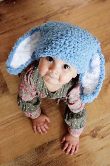 Divertidas orejas de conejo para niños