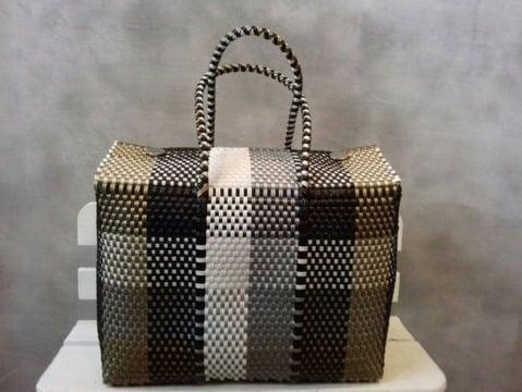 bolsas artesanales tejidas de plastico