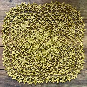 carpetas tejidas a crochet antiguas