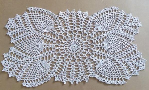 carpetas tejidas a crochet rectangular