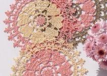 Clásicas y coloridas carpetas tejidas a crochet