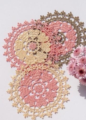 carpetas tejidas a crochet redondas