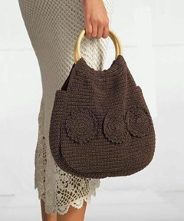 carteras tejidas a crochet en cola de rata