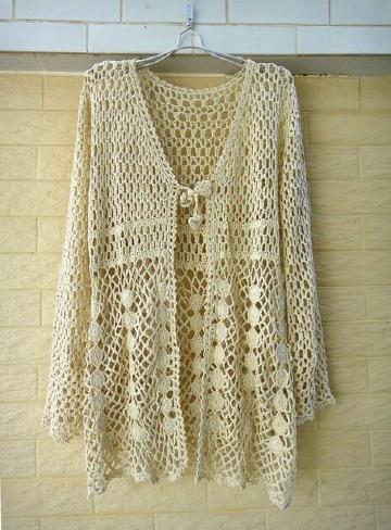 chalecos a crochet calados para mujer