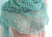 Preciosos modelos de chalinas tejidas a mano para dama