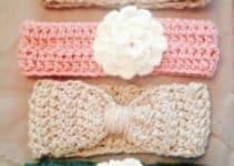 Modelos de cintillos tejidos para niñas pequeñas y bebés