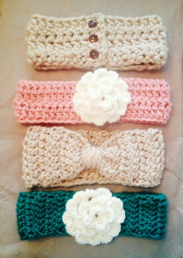 cintillos tejidos para niñas en crochet