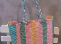 Preciosos modelos de bolsas artesanales tejidas para dama
