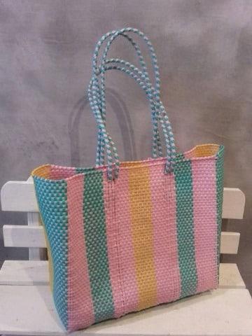 como hacer bolsas artesanales tejidas