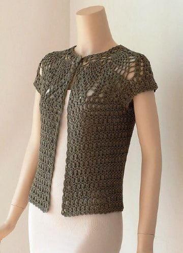 como hacer chalecos tejidos a mano