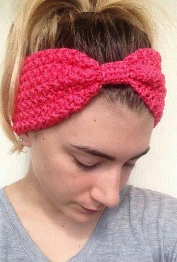 diademas tejidas a crochet de moda