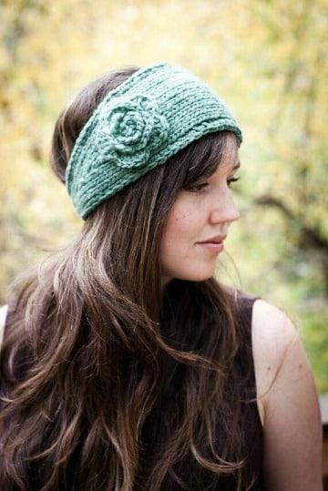diademas tejidas a crochet para mujer