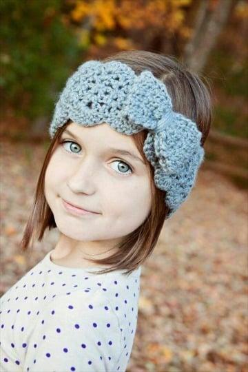 diademas tejidas a crochet para niñas