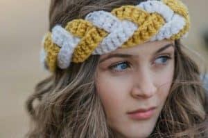 Diademas tejidas a crochet para chicas de todas las edades
