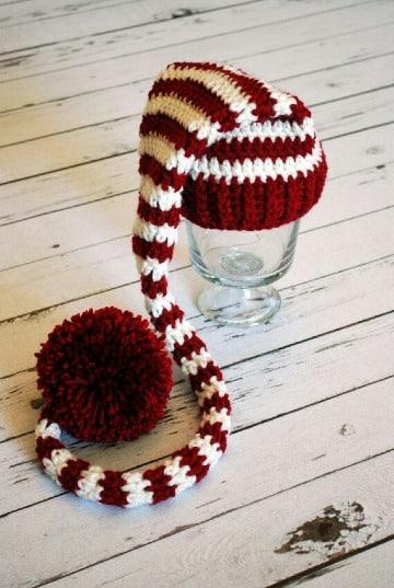 gorros navideños para niños crochet