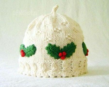 gorros navideños para niños tejidos