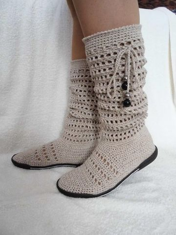 imagenes de botas tejidas altas