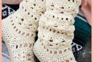 Bellas imagenes de botas tejidas para inspirarte a hacerlas