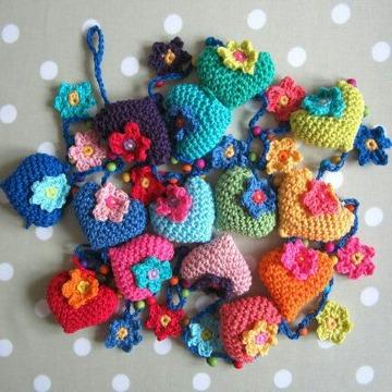 imagenes de corazones tejidos a crochet