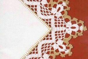 Hermosos diseños de orillas tejidas para servilletas