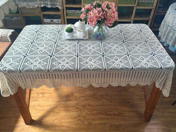 manteles tejidos a crochet rectangulares