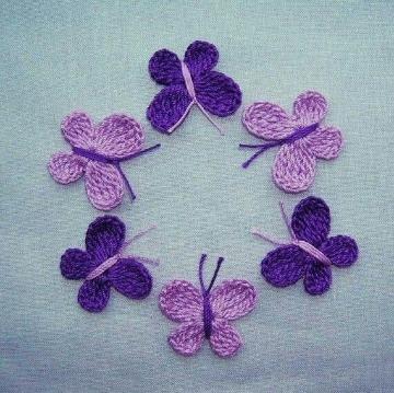mariposas tejidas a crochet facil
