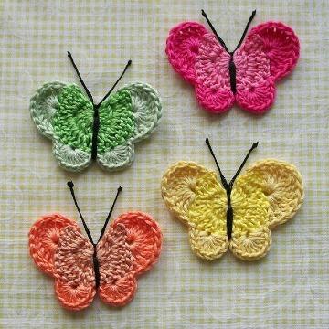 mariposas tejidas a crochet paso a paso