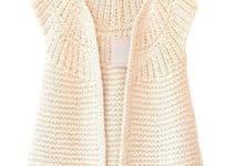 Preciosos y ligeros chalecos tejidos a mano para damas