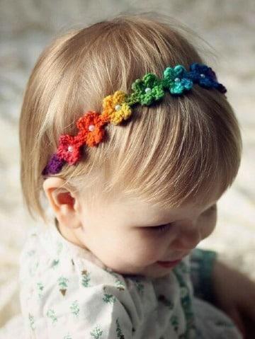 modelos de cintillos tejidos para niñas