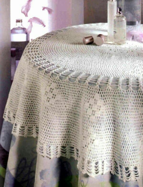 modelos de manteles tejidos a crochet
