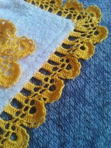 orillas tejidas para servilletas faciles