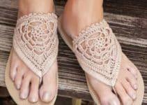 Bellos modelos de sandalias tejidas a crochet para el verano