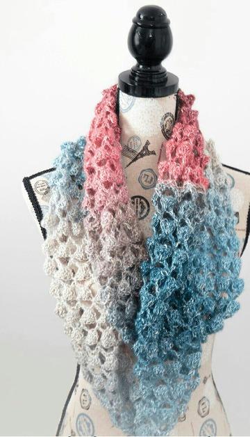 como hacer bufandas faciles y bonitas a crochet