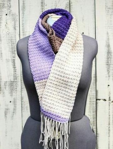 como hacer bufandas faciles y bonitas tejidas