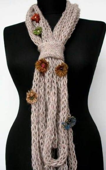 como hacer bufandas tejidas a mano faciles