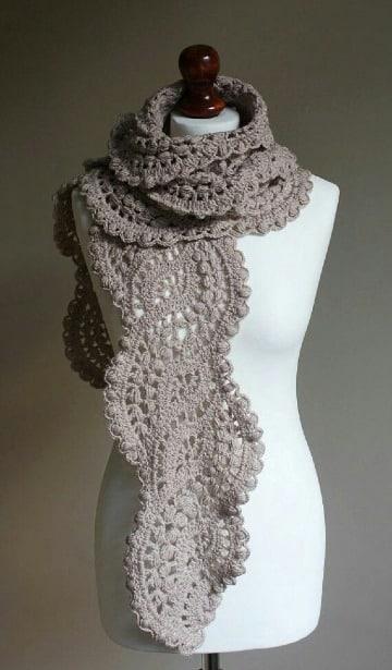 como hacer bufandas tejidas a mano modernas