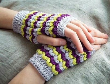 como tejer mitones a crochet facil