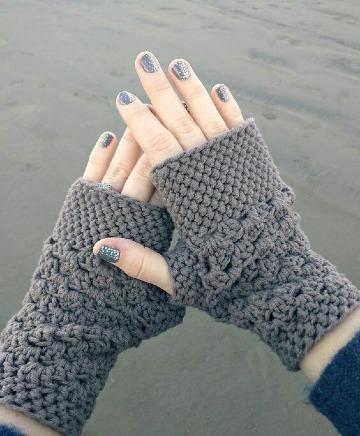 como tejer mitones a crochet para niña