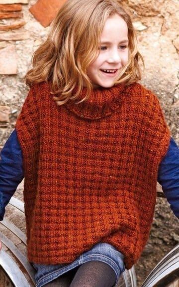 como tejer un poncho para niña a crochet