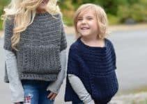 Modelos de como tejer un poncho para niña clásico o moderno