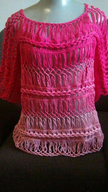 diseños de blusas tejidas con horquilla