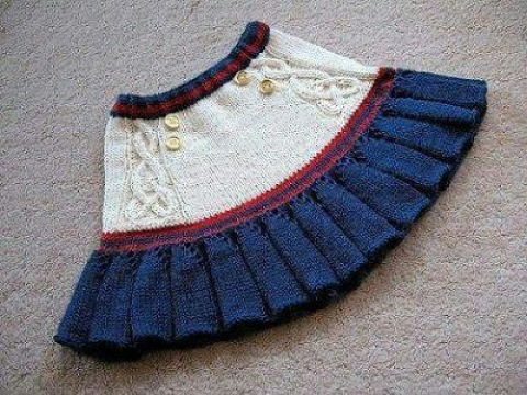 diseños de faldas tejidas a crochet para niñas